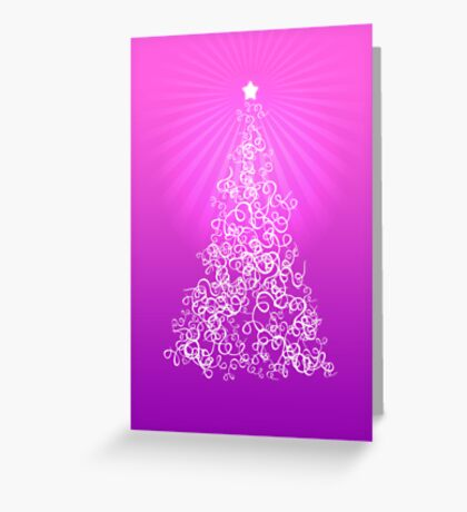 Merry Christmas Card - Pink Greeting Card