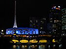 Melbourne Arts Centre by Night by Ian Ker