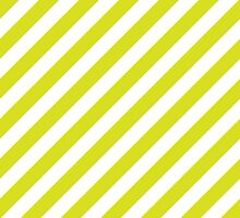 Chartreuse Thick Diagonal Stripes by ImageNugget