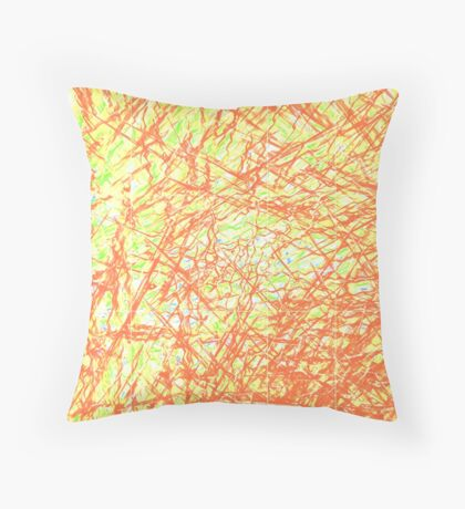 red and green lines Throw Pillow