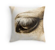 The Longest of Lashes Throw Pillow