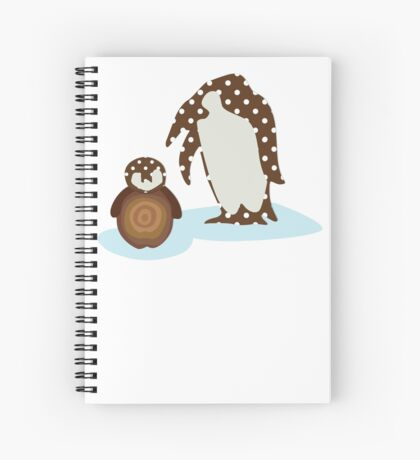 Father and Baby Penguin Spiral Notebook