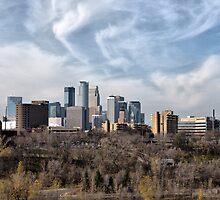 Minneapolis Sky Line by Jarede Schmetterer
