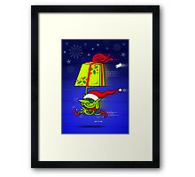A Merry Christmas Gift from Santa's Elf Framed Print