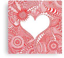 Doodle love  Canvas Print