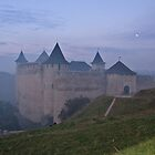 Evening fog over Khotyn castle by Elena Skvortsova