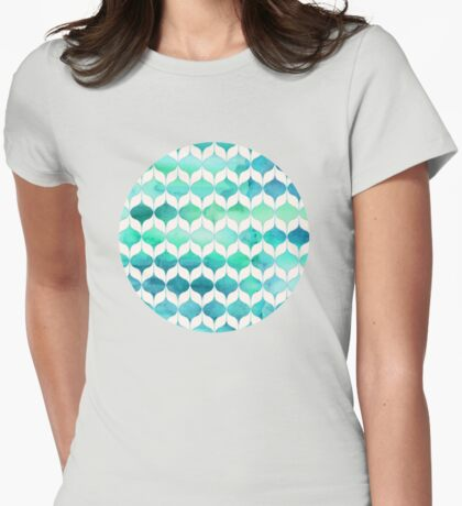 Ocean Rhythms and Mermaids Tails Womens Fitted T-Shirt