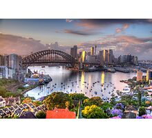 Glow - Moods Of A City - The HDR Experience Photographic Print