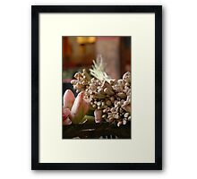 Bali life - spices Framed Print
