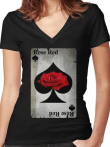 Rose of Spades Women's Fitted V-Neck T-Shirt