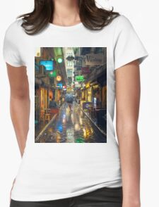 Rainy Day in Bohemian Melbourne Womens Fitted T-Shirt