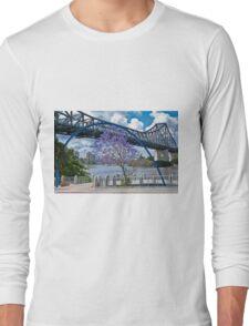 Story Bridge Through Arch Brisbane Australia Long Sleeve T-Shirt