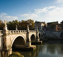 Bridge Over Tiber River, Rome Italy by GJKImages