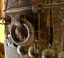 Old door handle in Fez souk by MsMoll