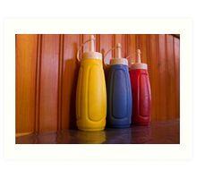 Saucy bottles Art Print