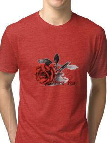 Rose Red - Simply Elegant  Tri-blend T-Shirt