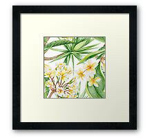 Watercolor Tropical Plants Framed Print