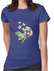 Watercolor Tropical Plants Womens Fitted T-Shirt