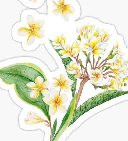 Watercolor Tropical Plants Sticker