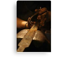 The Making of Medieval Sword In Progress Canvas Print