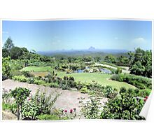 View to Glass House Mountains Poster