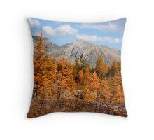 Autumn coniferous woods Throw Pillow