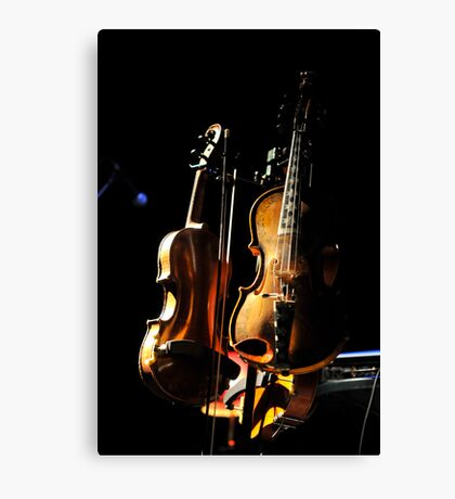 don't fear the fiddle Canvas Print