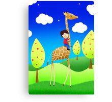 The Giraffe express Canvas Print