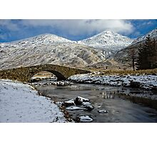 Argyll Winter Snow Scene Photographic Print