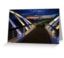 Cruise ship ocean liner sunset over mexico Greeting Card