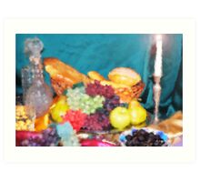 Bread and Fruit Impressionist  Art Print