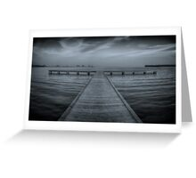 Pier at Millers Bay ~ HDR in Cyanotype Greeting Card