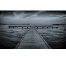 Pier at Millers Bay ~ HDR in Cyanotype Photographic Print