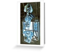 Blue Shock Box of Infinate Desires 2. Greeting Card