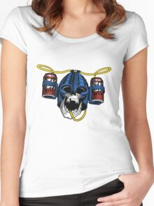 Beer-Helmet Women's Fitted Scoop T-Shirt