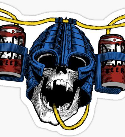 Beer-Helmet Sticker