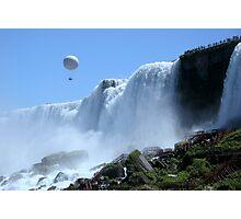 Balloon Ride Over Bridal Veil Falls Photographic Print