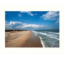 st augustine shoreline f.l.a u.s.a Art Print