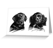 Moss and Max Greeting Card