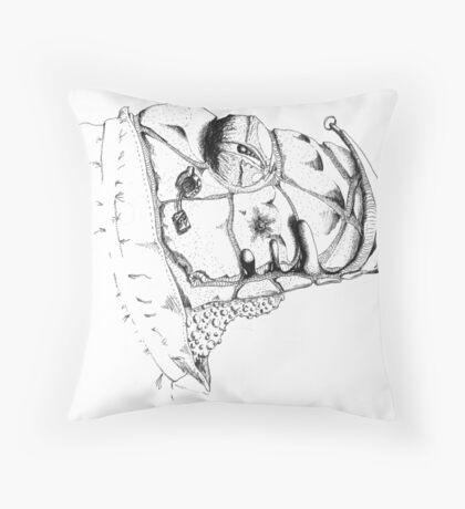 Grim Watcher Throw Pillow