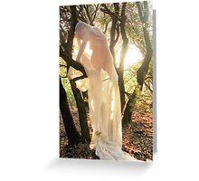 Nymphe au coucher du soleil Greeting Card