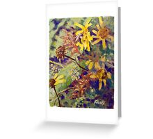 Bumblebee in the Fall Greeting Card