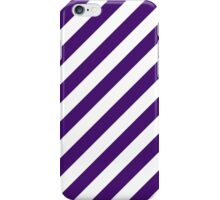 Purple Thick Diagonal Stripes iPhone Case/Skin
