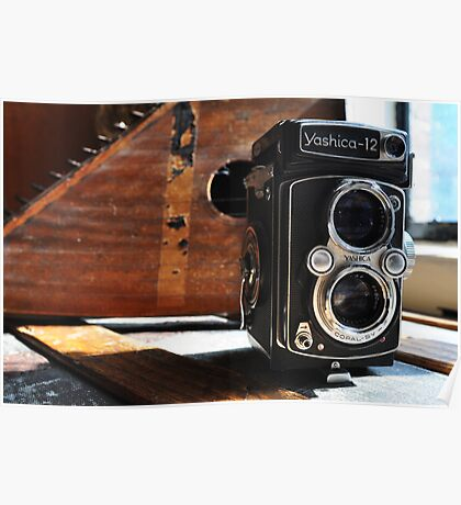 Vintage Well-Worn Yashica Poster