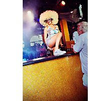 stripper with big hair  Photographic Print