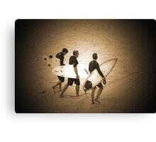 ~three surfers~ Canvas Print