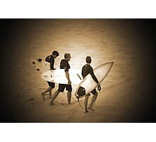 ~three surfers~ Photographic Print