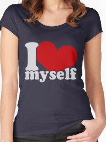 I Love Myself Women's Fitted Scoop T-Shirt