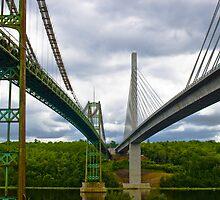 Old Bridge and New Bridge Side by Side by Jamie Mathiau