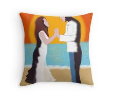 Stay with me until the sun goes down Throw Pillow